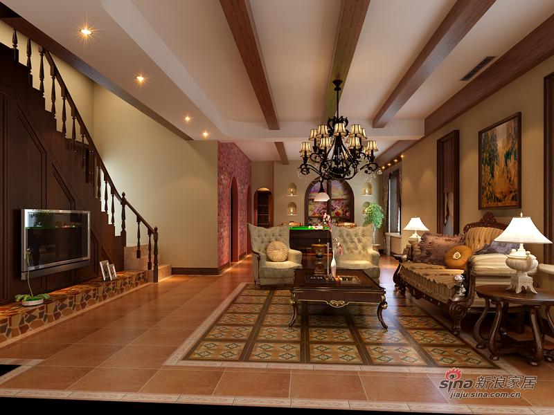 美式 别墅 客厅图片来自用户1907686233在美式乡村返璞归真22的分享