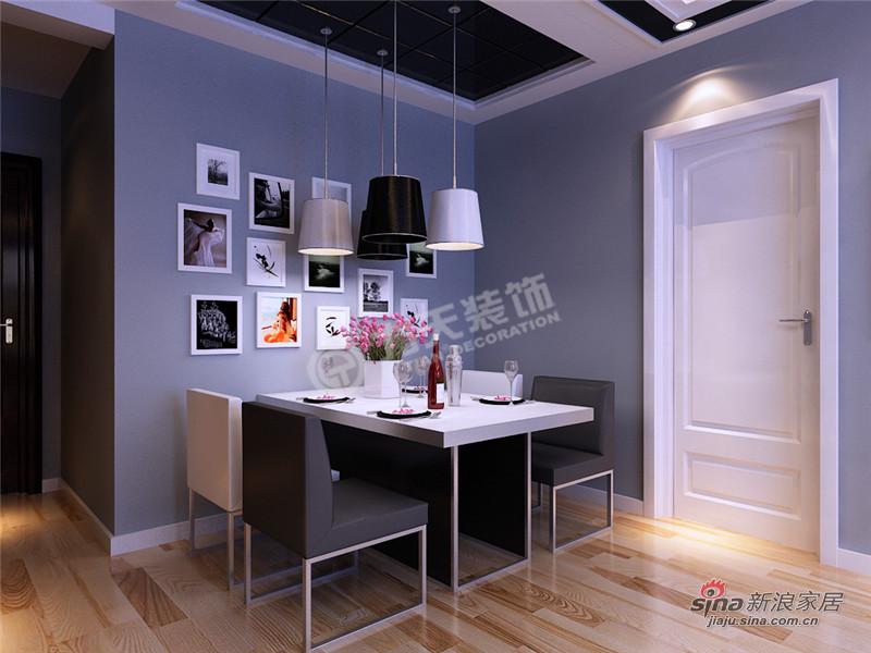 简约 三居 餐厅图片来自阳光力天装饰在三室两厅现代简约风格家59的分享