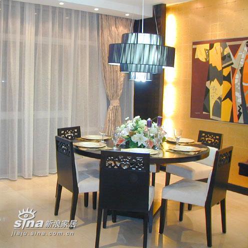 中式 别墅 餐厅图片来自用户2740483635在杭州西湖时代样板房95的分享