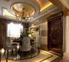 海归13.5万装点173平复古简欧风格三居室87