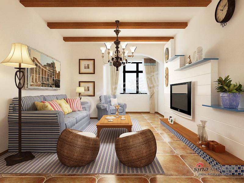 地中海 四居 客厅 白领图片来自阳光力天装饰在4室2厅地中海风格家居84的分享