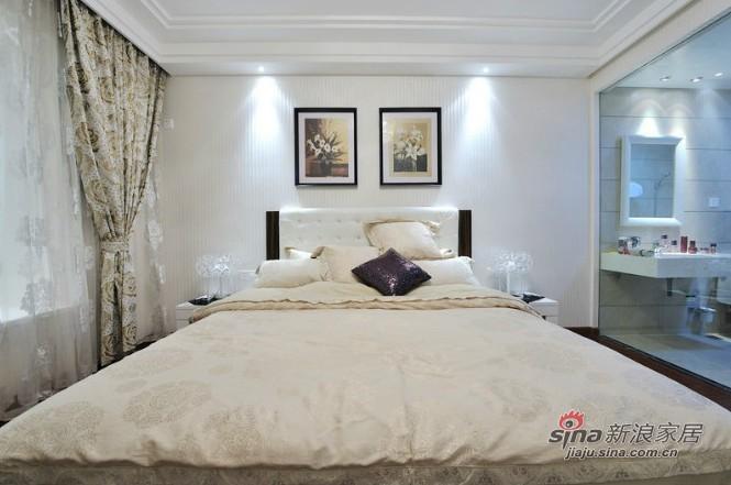 简约 三居 卧室图片来自用户2737782783在都市风情6.5万晒120平简约明亮三居77的分享