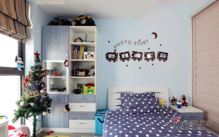 简约 三居 儿童房图片来自装修微日记在【高清】12万打造89平简约淡雅三居室79的分享