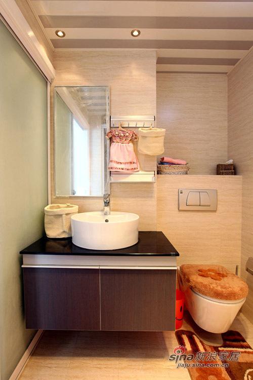 简约 一居 卫生间图片来自用户2737786973在62平功能齐全的浪漫mini婚房85的分享
