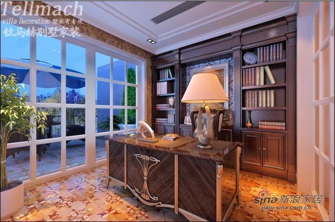 欧式 别墅 书房图片来自用户2772873991在48万打造500平新欧式风格别墅设计86的分享