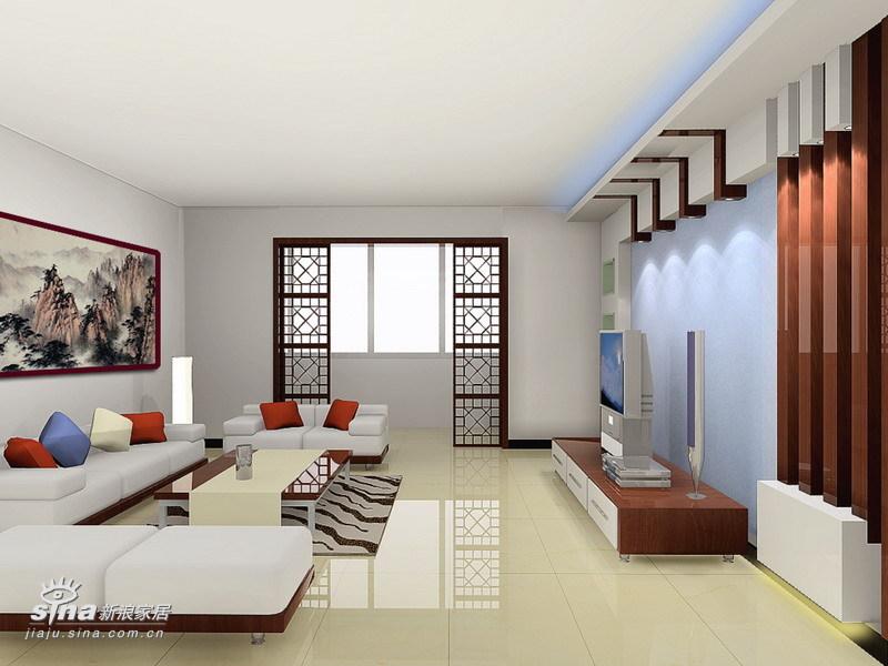 中式 复式 客厅图片来自用户2737751153在天通苑(180平复式)23的分享