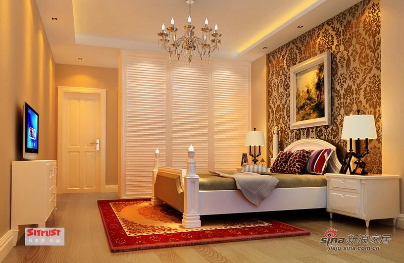 欧式 三居 卧室图片来自用户2557013183在细节彰显品味 9万演绎134㎡雅致欧式洋房94的分享