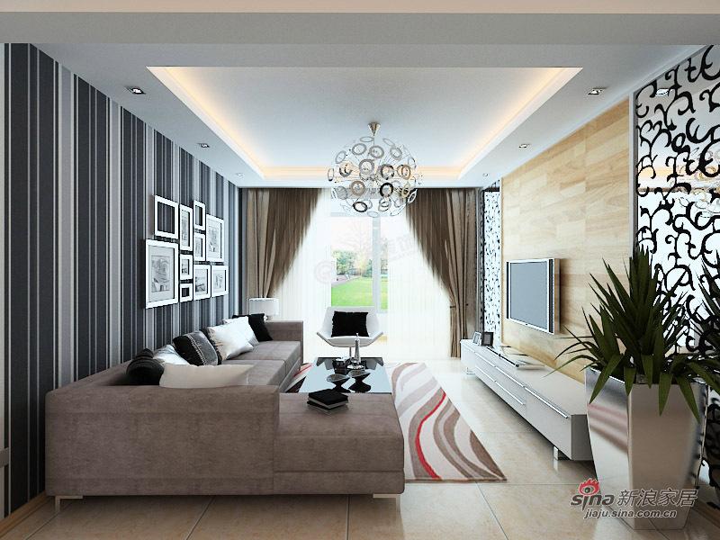 简约 三居 客厅图片来自用户2737759857在嘉春园127㎡-三室两厅-现代简约设计案例35的分享
