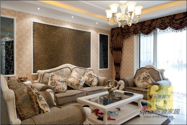 混搭 三居 客厅图片来自用户1907689327在25万打造160平中西合璧、简欧混搭品质三居47的分享