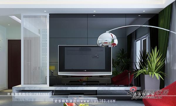 简约 三居 客厅图片来自用户2557010253在黑色诱惑----三万英尺样板房12的分享