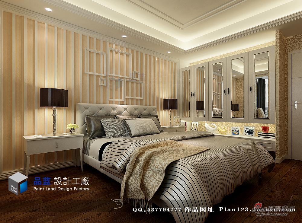 欧式 三居 卧室图片来自用户2772873991在【多图】118平米米兰春天简约欧式样板房64的分享