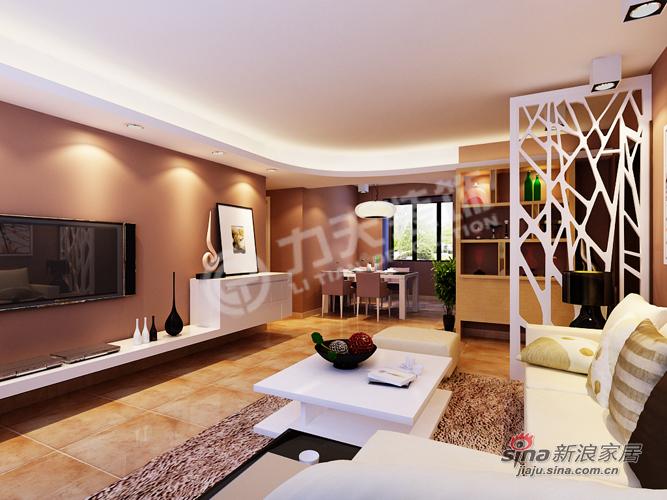 简约 二居 客厅图片来自阳光力天装饰在福晟钱隆城114平米现代简约55的分享