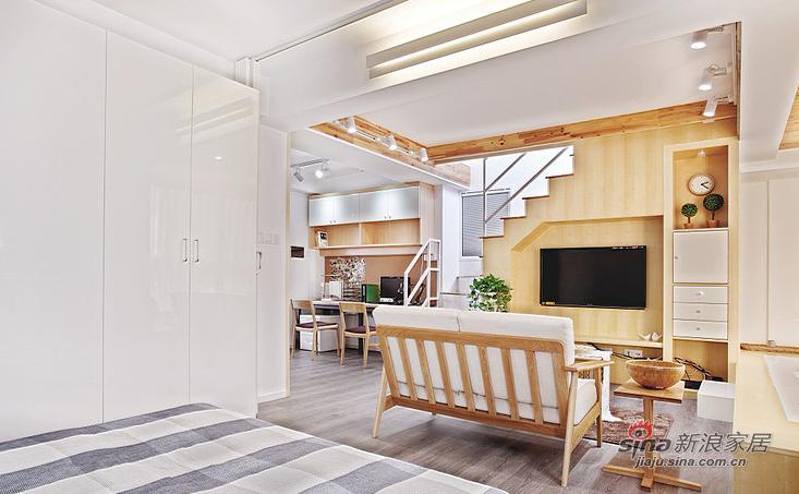 简约 loft 卧室图片来自用户2737950087在【高清】超清爽70平日式素雅loft16的分享