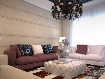 低调的小奢华打造银泰御华园三居室简欧风格24