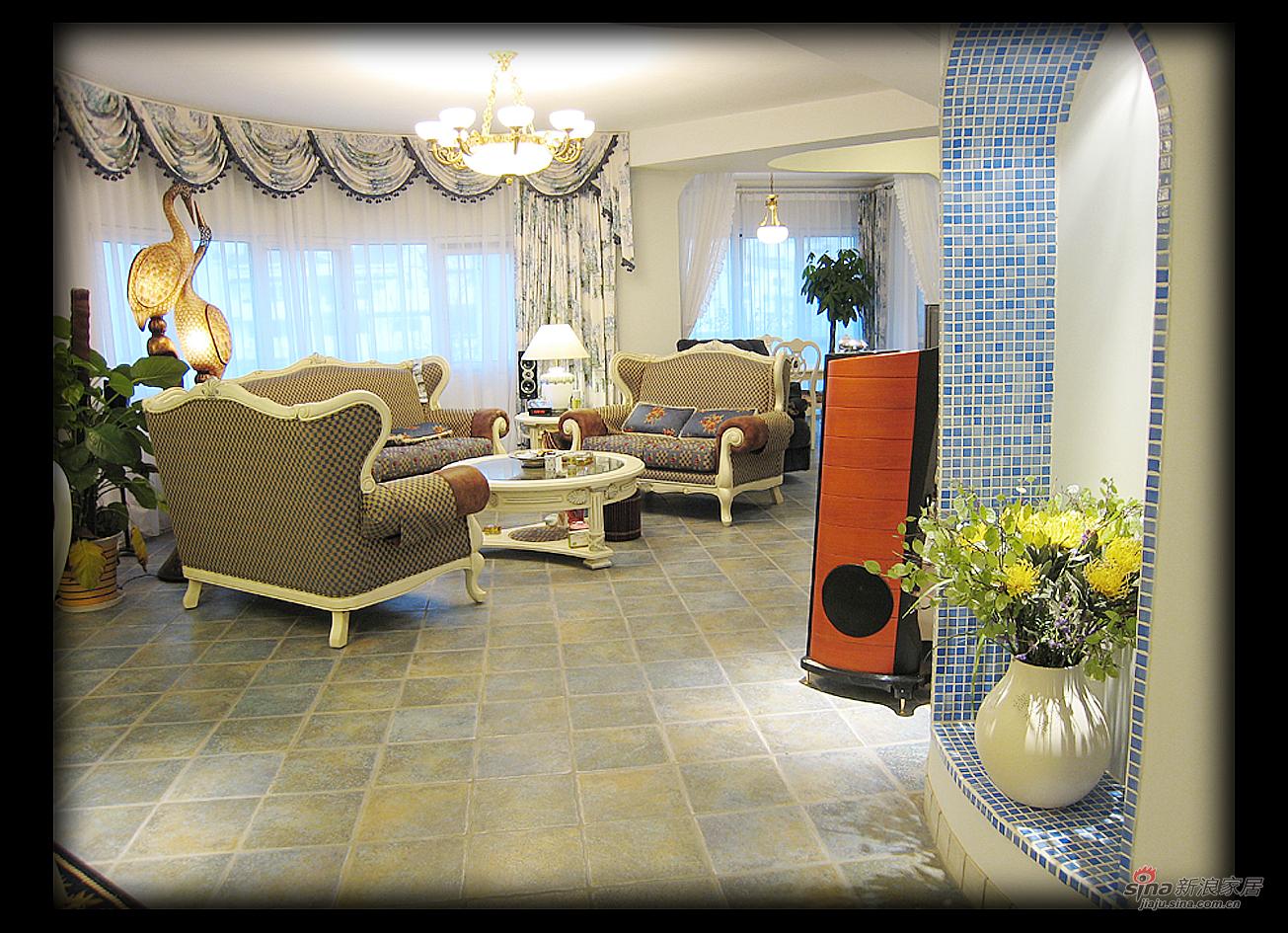 地中海 公寓 客厅图片来自用户2756243717在23万地中海风格打造210平米白领公寓63的分享
