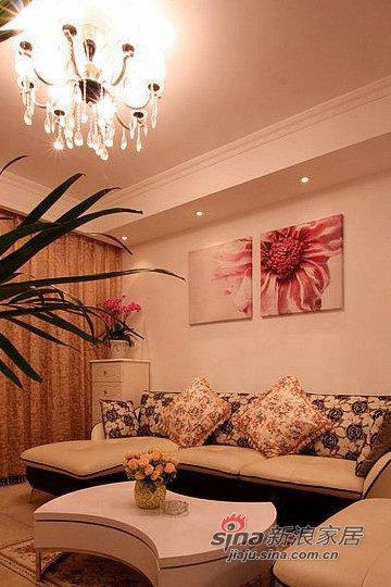 混搭 二居 客厅图片来自用户1907655435在田园混搭现代89平浪漫婚房49的分享