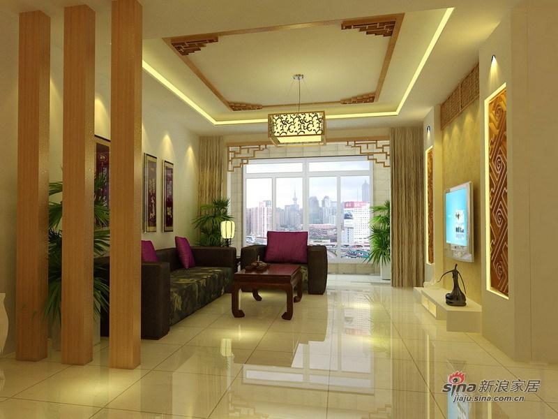 中式 三居 客厅图片来自用户1907696363在110平米的中式3居仅需8万60的分享