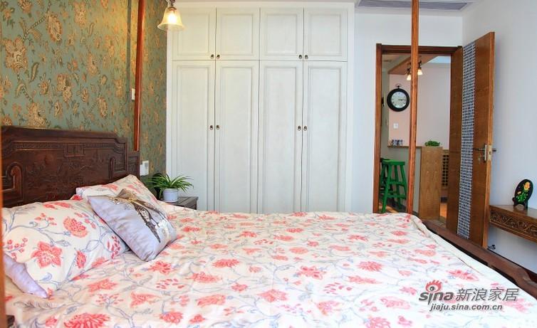 混搭 三居 卧室图片来自用户1907689327在16万打造109平颜色跳动三口之家85的分享