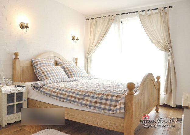 欧式 二居 卧室图片来自用户2746953981在10万全包115平纯白简欧两房76的分享