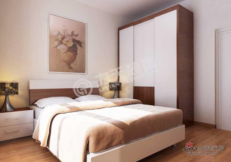 简约 二居 卧室图片来自阳光力天装饰在福运家园 -两室一厅一卫-现代简约风格57的分享