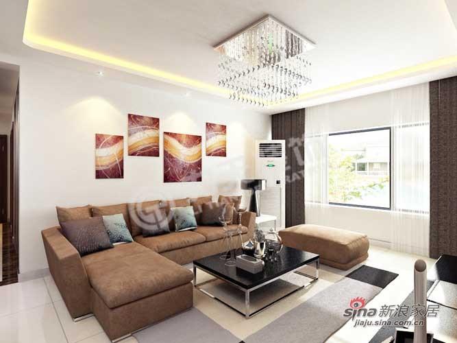 简约 二居 客厅图片来自阳光力天装饰在景瑞阳光尚城91.8㎡现代简约25的分享
