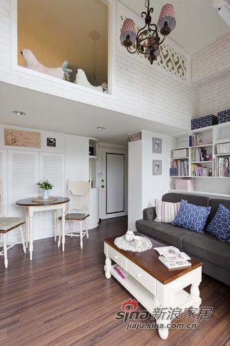 田园 复式 客厅图片来自用户2737946093在都市小白领10万装25平loft54的分享