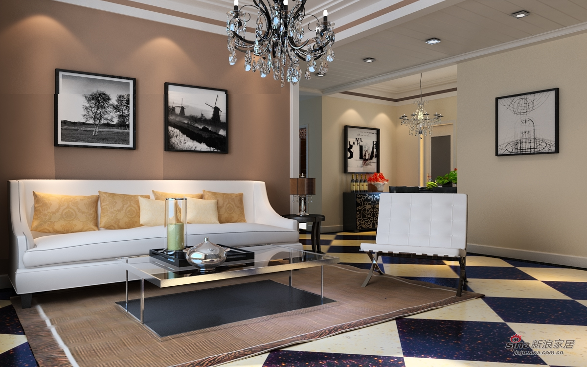 简约 三居 客厅图片来自用户2737782783在康桥133平现代简约3居99的分享
