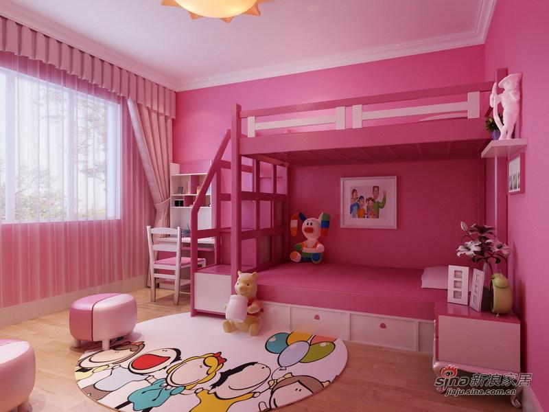 简约 二居 儿童房图片来自用户2739081033在130平二手房翻新 打造现代简约实用家46的分享