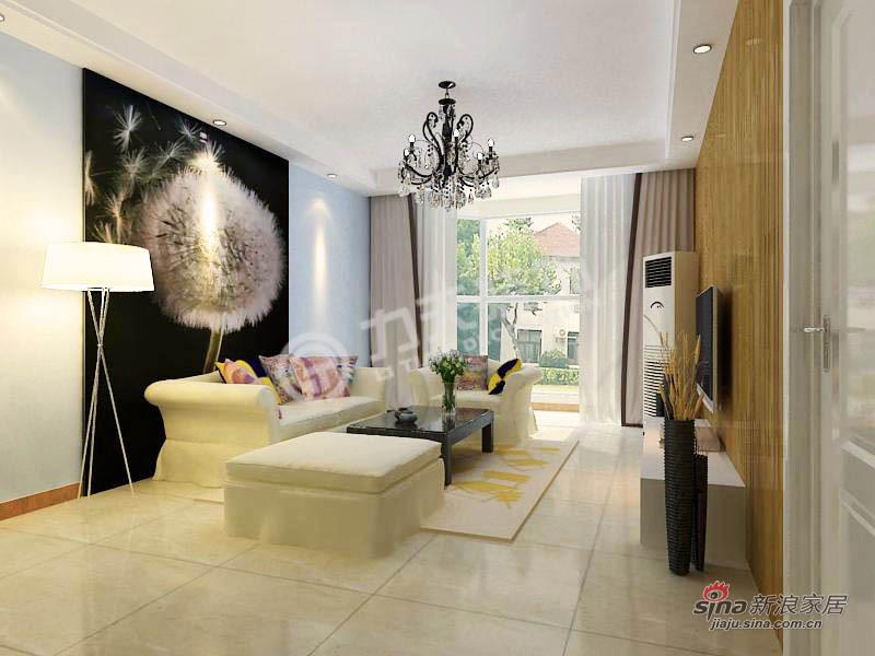 简约 二居 客厅图片来自阳光力天装饰在天津大都会-2室2厅2卫-现代风格11的分享