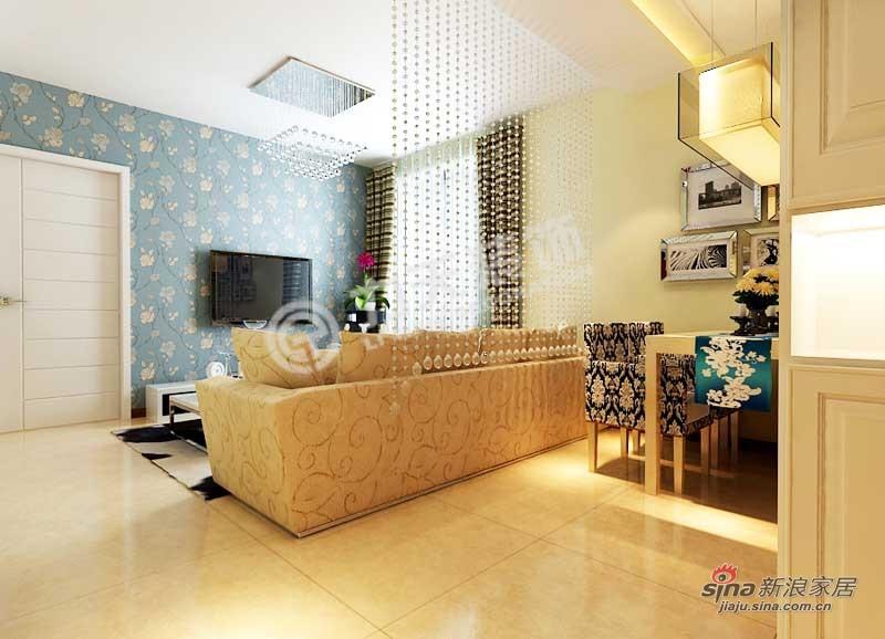 简约 三居 客厅图片来自阳光力天装饰在中铁国际城-3室2厅1卫-现代简约75的分享