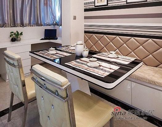 新古典 一居 餐厅图片来自用户1907664341在9万装70平新古典时尚新家88的分享