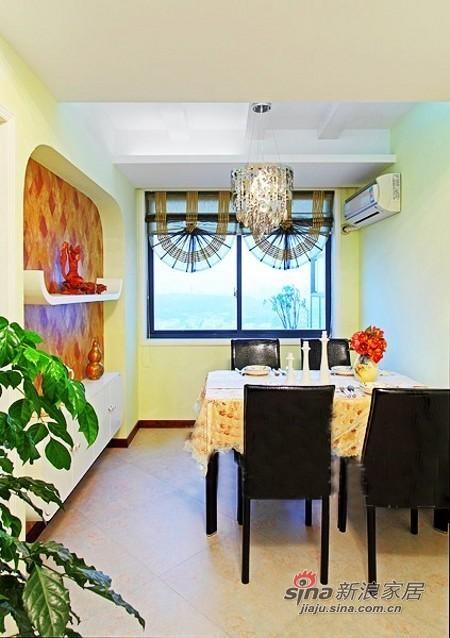 现代 二居 餐厅图片来自佰辰生活装饰在小两口晒70平绿色清新婚房68的分享
