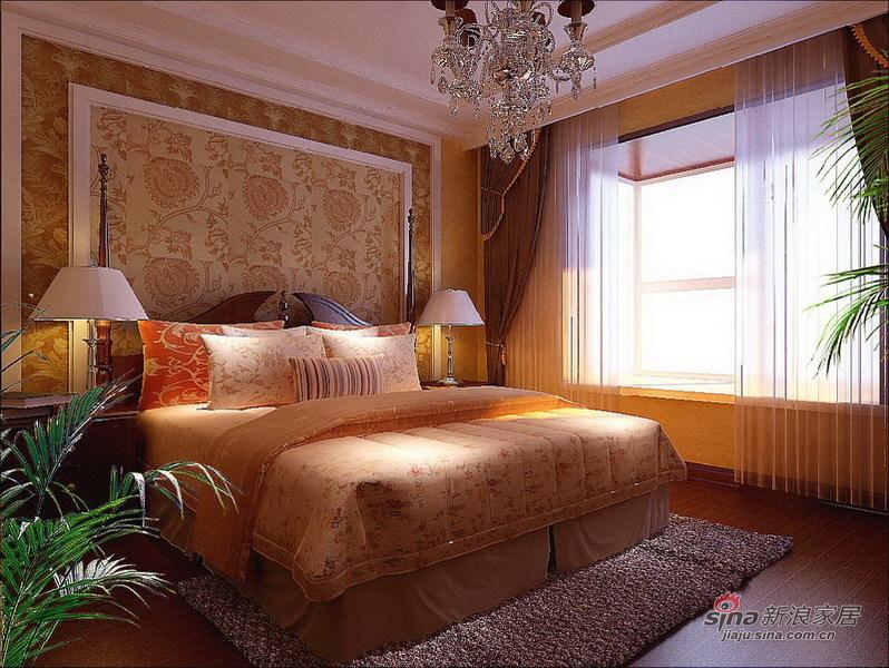 中式 三居 卧室图片来自用户1907658205在123平保利公园九里中式风格三居室36的分享