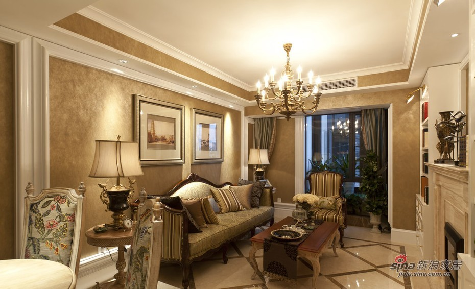 欧式 二居 客厅图片来自用户2772873991在荷塘月色欧式二居仅11.8万14的分享