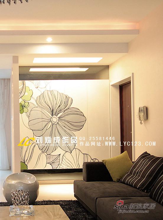 凯乐湘园136平米手绘画鞋柜实景
