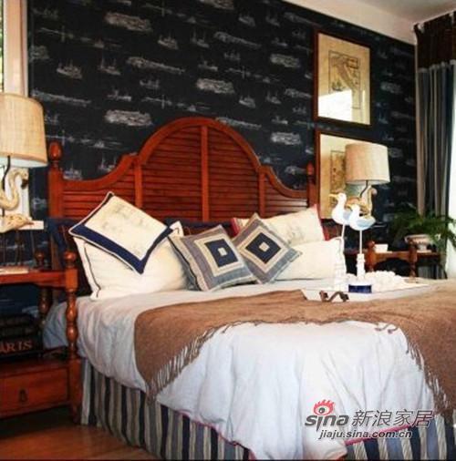 地中海 二居 卧室图片来自用户2756243717在夫妻8万简装65平地中海小屋43的分享