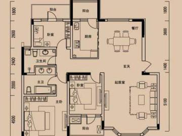 复古典雅140平米 金地格林世界三居室87