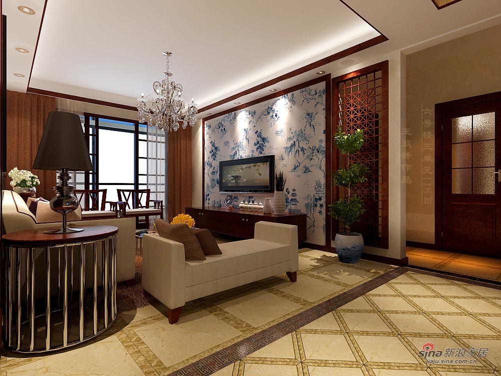 中式 三居 客厅图片来自用户1907661335在118平三居室新中式19的分享
