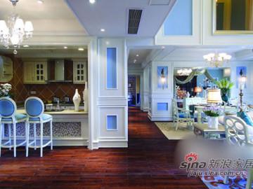 美人鱼的奢华世界 82平梦幻感蓝色复式家装69