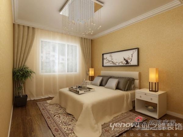 简约 三居 卧室图片来自用户2739153147在120平米环保简约三口之家59的分享