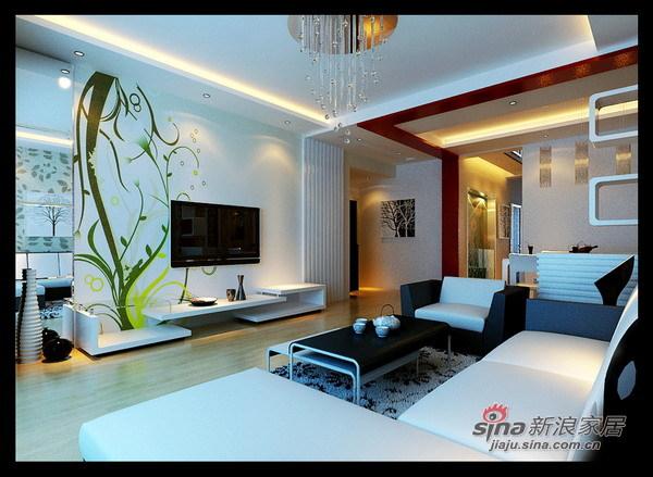 简约 二居 客厅图片来自用户2739378857在93平米简而华丽、色调协调大气家园82的分享