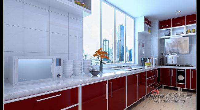 简约 三居 厨房图片来自用户2559456651在8万全包打造115平时尚3居41的分享
