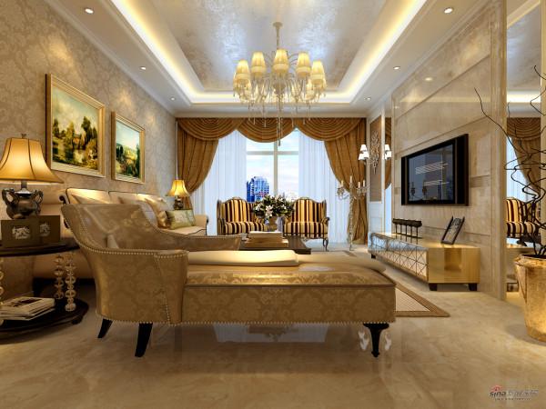 海马公园三室古典风格设计图