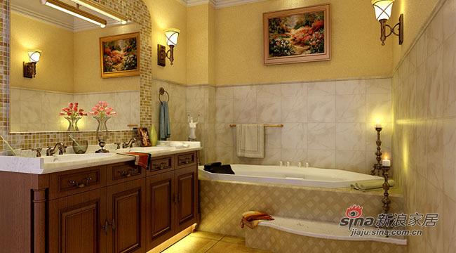 混搭 别墅 卫生间图片来自用户1907655435在8.9万完美演绎2居东南亚风情82的分享