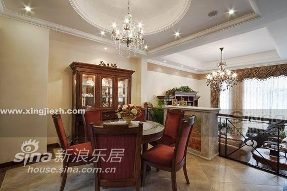欧式 复式 餐厅图片来自用户2746869241在舒适奢华不俗气  IT精英的美式家30的分享