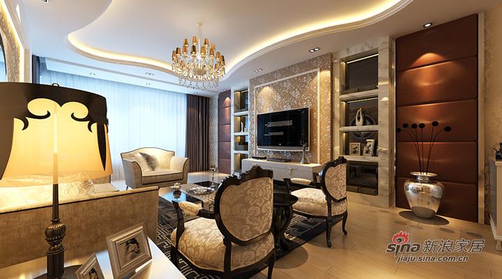 欧式 三居 客厅图片来自用户2557013183在120平豪华欧式之居82的分享