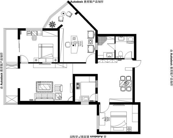 其他 三居 其他图片来自用户2771736967在8万宁静打造舒适、暇意现代中式三居室12的分享