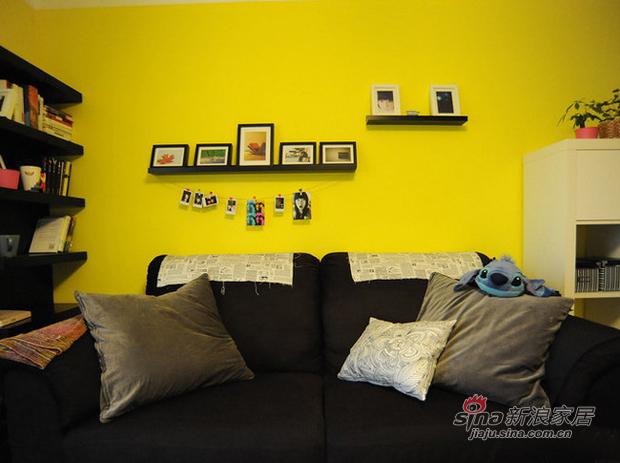 简约 一居 客厅 屌丝 温馨 实用图片来自用户2738829145在两居改成大一居  4万改造48平简单家70的分享