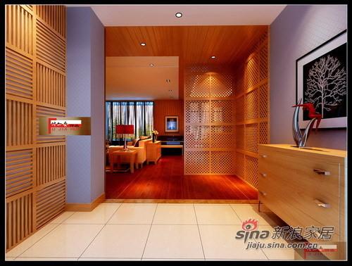 暖色新中式门厅