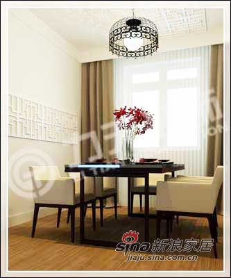 中式 三居 餐厅图片来自阳光力天装饰在138平儒雅诗意中式风情14的分享
